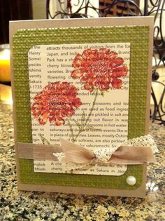 Field Flowers Stampin' Up!  CAS