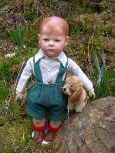 Alte antike Käthe Kathe Kruse Puppe I (1), doll, breite Hüften, 43cm | eBay