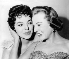 Joan Collins & June Allyson 1956