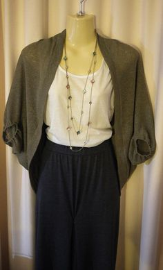 Hand Made Knits Mocha Green Tea Color One Size Cocoon by madling, $35.00