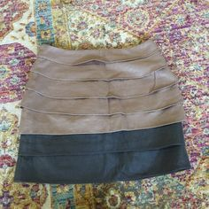 NEW Layered Champagne and Gray Skirt Brand new with tags champagne and gray layered skirt 15 inches from top to bottom has a few wrinkles in it but otherwise perfect condition Cynthia Rowley Skirts