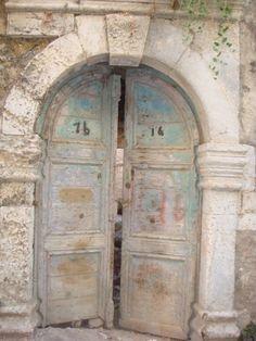 pale blue doors