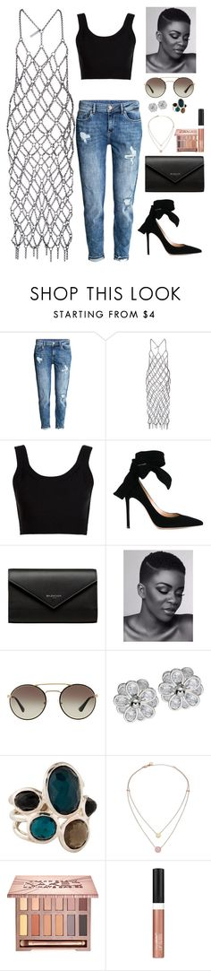 """""""Shameboy"""" by antoalvear ❤ liked on Polyvore featuring Fannie Schiavoni, Calvin Klein Collection, Gianvito Rossi, Balenciaga, Prada, Ippolita, Michael Kors, Urban Decay and Wet n Wild"""