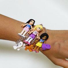 Made in Korea Lego Friends Bracelet/Children's Birthday Gift/GirlsHalloween Gift Friend Bracelets, Birthday Gifts For Kids, Lego Friends, All About Fashion, Korea, Bangles, Chain, Best Deals, How To Make