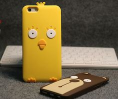 Cute 3D Cartoon Chick Bear Soft Silicone TPU Skin Cover Case for iphone 5s 6plus #UnbrandedGeneric
