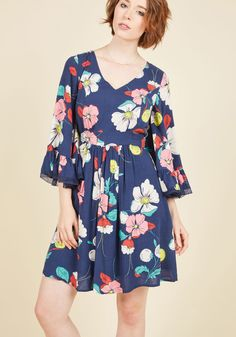 Through the Bluebells Dress in Retro Floral