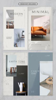 Social media story minimal furniture the. Web Design, Design Food, Layout Design, Bakery Design, Design Furniture, Furniture Layout, Home Decor Furniture, Furniture Brochure, Loft Furniture