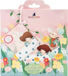 "Santoro Double - Sided Paper Pack 8""X8"" - Kori Kumi II, 24 Designs"