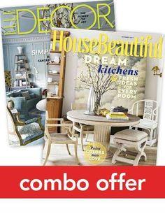 Elle Decor/House Beautiful Combo Magazine