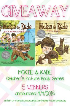 I just entered to win these two award-winning Moke & Kade books on the Mom's Choice Awards® blog. Enter by following the link on the image.