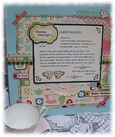 Gifting recipe 12 x 12 pages.  Love, love, love framing pages to go on a wall.