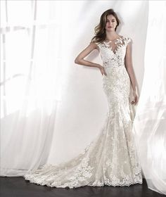 San Patrick by Pronovias · Opus Couture · Wedding Dresses Wedding Dress With Veil, Luxury Wedding Dress, Wedding Dress Sizes, Dream Wedding Dresses, Bridal Dresses, Wedding Dress Belts, Wedding Attire, Bridesmaid Dresses, San Patrick