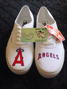 Los Angeles Angels of Anaheim MLB custom by ShoesBySmiley on Etsy
