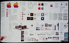 formulation and standards of the original apple logo Corporate Design, Corporate Identity, Identity Design, Visual Identity, Brand Identity, Original Apple Logo, Typography Design, Logo Design, Graphic Design
