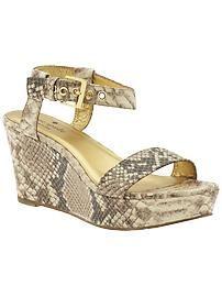Love these Kate Spade grey snake skin wedges!!