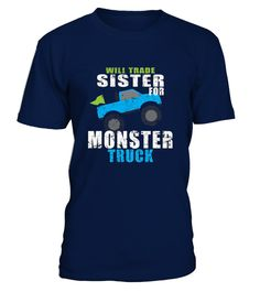 # Monster Truck Shirt For Boys Toddlers .   Solid colors: 100% Cotton; Heather Grey: 90% Cotton, 10% Polyester; All Other Heathers: 65% Cotton, 35% Polyester Imported Machine wash cold with like colors, dry low heat