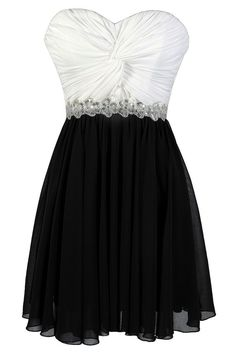 This adorable black and white party dress has embellished details we love. The High Contrast Twisted Chiffon Black and White Sequin Party Dress is a Cute Black and White Dress, Black and White Party Dress, and a Black and White Cocktail Dress. White Sequin Dress, White A Line Dress, Sequin Party Dress, Dress Black, White Chiffon, Grad Dresses Short, Homecoming Dresses, Formal Dresses, Dress Prom