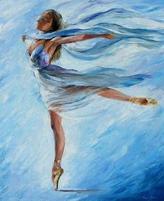 Leonid Afremov Sky Dance, oil on canvas, ... | Graceful Ballet╰☆╮╰☆╮