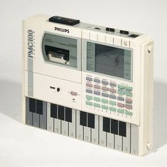 Philips PMC100 Composer Synthesizer Sequencer.❤ Launched in 1986, it had a nine channel FM synth…»