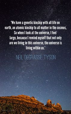 We are the Universe Neil deGrasse Tyson, American astrophysicist, director of the Hayden Planetarium
