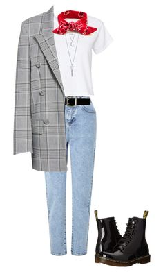 """""""Untitled #48"""" by mika-son on Polyvore featuring RE/DONE, Miss Selfridge, Express, Alexander Wang, BERRICLE and Dr. Martens"""