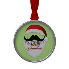 Cool I mustache you to have a Merry #Christmas Christmas Tree Ornaments by #PLdesign