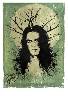 This is a portrait of Peter Steele (1962 – 2010) from Type O Negative. Description from aotearoa666.com. I searched for this on bing.com/images