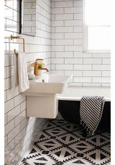 Inspiratie voor metrotegels in de badkamer