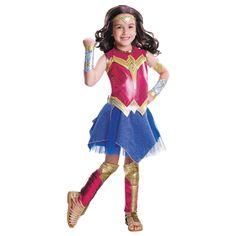 Deluxe Wonder Woman Girls' Halloween Costume - Small