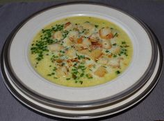 Rezept Knoblauchrahmsuppe mit Croutous