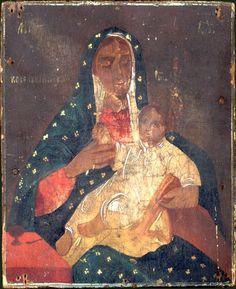 Українська ікона  друга половина 19  століття  МАТІР БОЖА  КОЗЕЛЬЩАНСЬКА