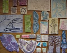 classy collection of hand carved rubber stamps by Regina Lord on Flickr