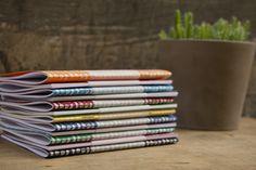 Screen-printed notebooks.  designwithasmile.bigcartel.com