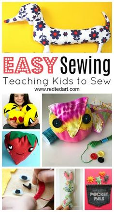 Must see cute and Easy Sewing Projects for Beginners! We love the variety of quick 10minute sewing project and more challenging but easy sewing projects for