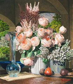 """""""A Blush with Greatness"""" is an original hyper-realistic watercolor painting by Eric Christensen"""