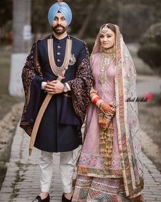Image may contain: 2 people, people standing and outdoor Bridal Anarkali Suits, Designer Bridal Lehenga, Bridal Lehenga Choli, Pakistani Wedding Dresses, Punjabi Wedding, Wedding Outfits For Groom, Indian Wedding Outfits, Bridal Outfits, Wedding Attire