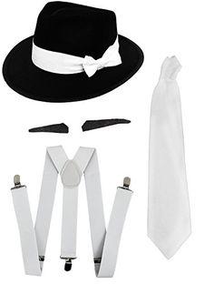 Gangster Set Fancy Dress Accessory Costume Kit 4d2d900f6195