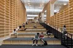 Shelving, Sou Fujimoto Architects, Musashino Art University Museum & Library, Tokyo.