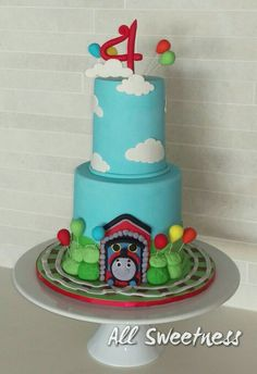 Thomas the Tank engine birthday cake. Made by All Sweetness