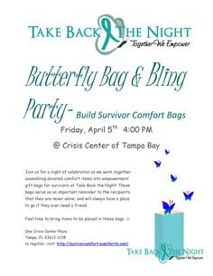Support Survivors of sexual violence, domestic violence and abuse by putting together comfort bags for Take Back the Night!