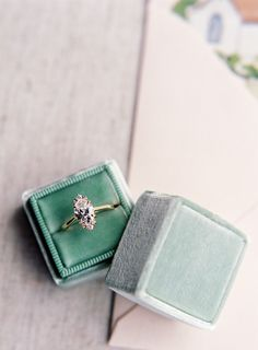 The Mrs. Box Marquis Diamond Engagement Ring | Christine Doneé
