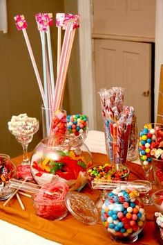 Colorful Variety Candy Buffet