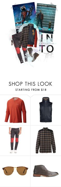 """""""Rocket"""" by windsinger ❤ liked on Polyvore featuring Columbia, Brunello Cucinelli, Robin's Jean, Neil Barrett, Persol, Ted Baker, Givenchy, men's fashion, menswear and leatherjacket"""