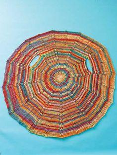 Crochet Shawl & Wrap Downloads - Bohemian Circle Shawl Crochet Pattern