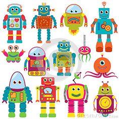 Robots Clip Art Clipart, Retro Robot Party Clipart Clip Art Vectors - Commercial and Personal Use - kids stuff - - Art Clipart, Robot Clipart, Image Clipart, Hawaiian Party Decorations, Arte Robot, Robot Art, Retro Robot, Retro Party, Clip Art