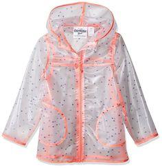 OshKosh B'Gosh Girls' Translucent Rainslicker Rain Jacket Oshkosh Bgosh, Rain Wear, Rain Jacket, Windbreaker, Jackets For Women, Raincoat, Womens Fashion, Girls, How To Wear