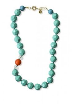 A touch of #turquoise , the Amy necklace in turquoise or mint by #SwellCarolineTheCollection ! #Statement