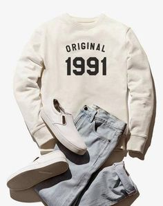 fb803eae573baa 27th birthday sweatshirt 1991 shirt birthday sweater hipster shirt pullover  sweatshirt women sweater Graphic Tee Shirts