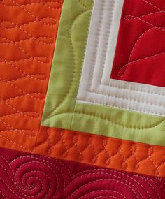 Close up of quilting by AngelaFMQ, via Flickr