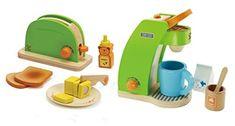 Hape Pop Up Toaster & Coffee Maker Play Set. #Hape #Toaster #Coffee #Maker #Play